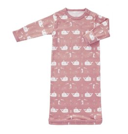 Fresk Cotton sleeping bag Whale mellow rose