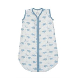 Fresk Muslin sleeping bag Whale white-blue