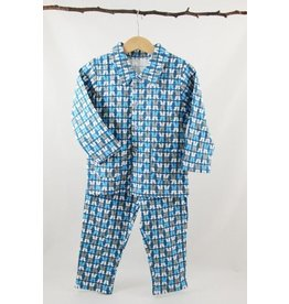 Wiplala Blue-grey pajamas for kids from 3 to 8 years