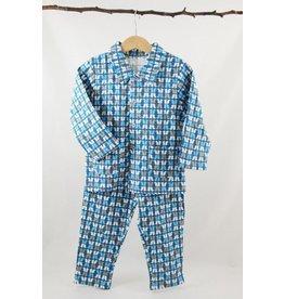 Wiplala Pyjama bleu-gris pour les enfants de 3 à 8 ans