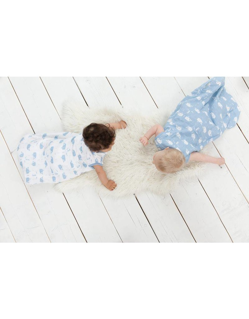 Fresk Muslin sleeping bag Whale soft blue