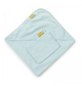 Childwood Hooded bath towel + wash cloth mint