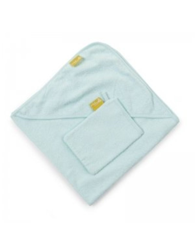 Childwood Soft hooded towel with wash cloth in mint