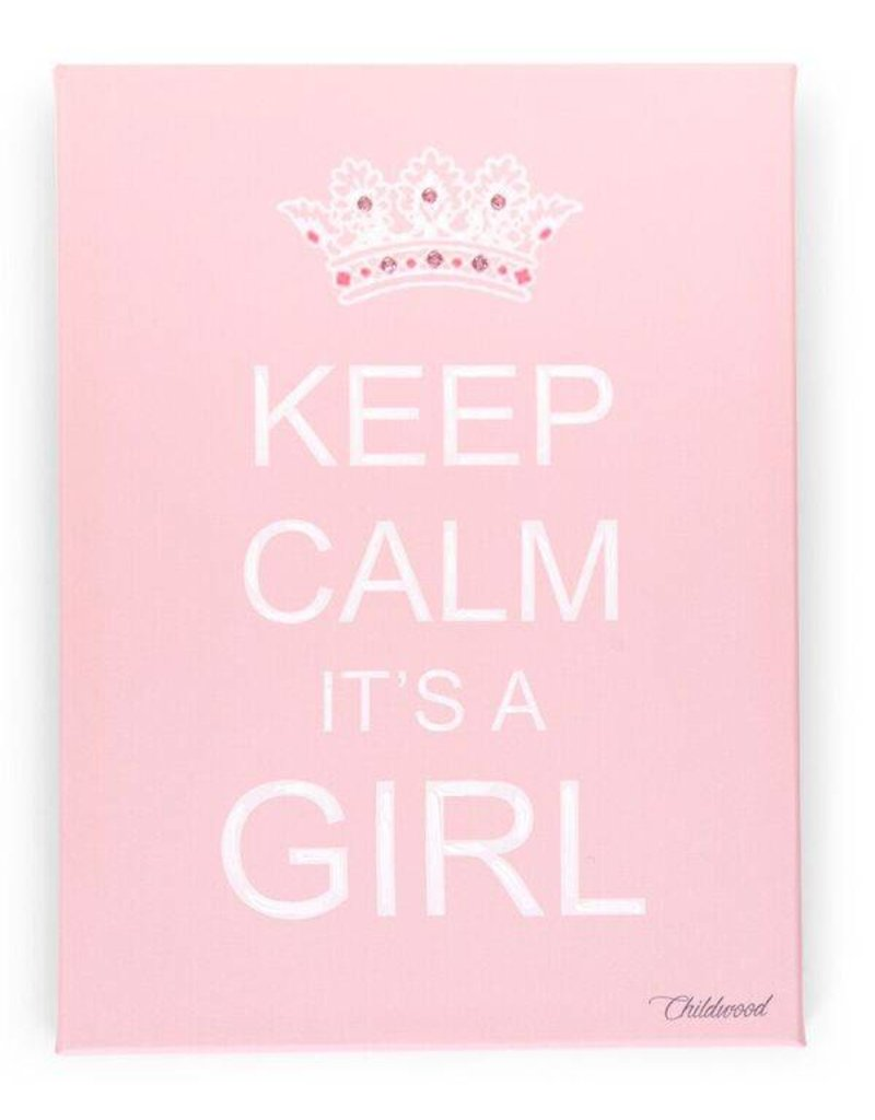 Childwood Magnificent painting Keep Calm it's a Girl