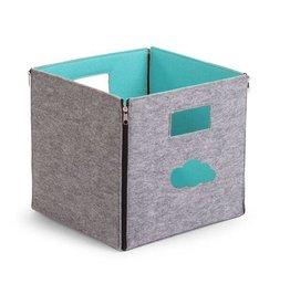 Childwood Boîte de rangement gris - menthe