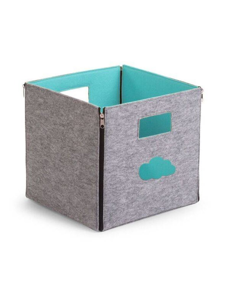 Childwood Storage box in grey and mint