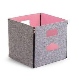 Childwood Vilten opbergbox grijs / roze