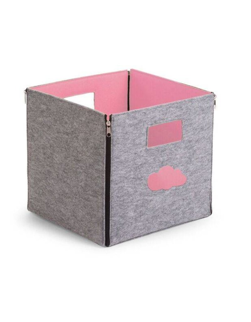 Childwood Storage box in grey and pink