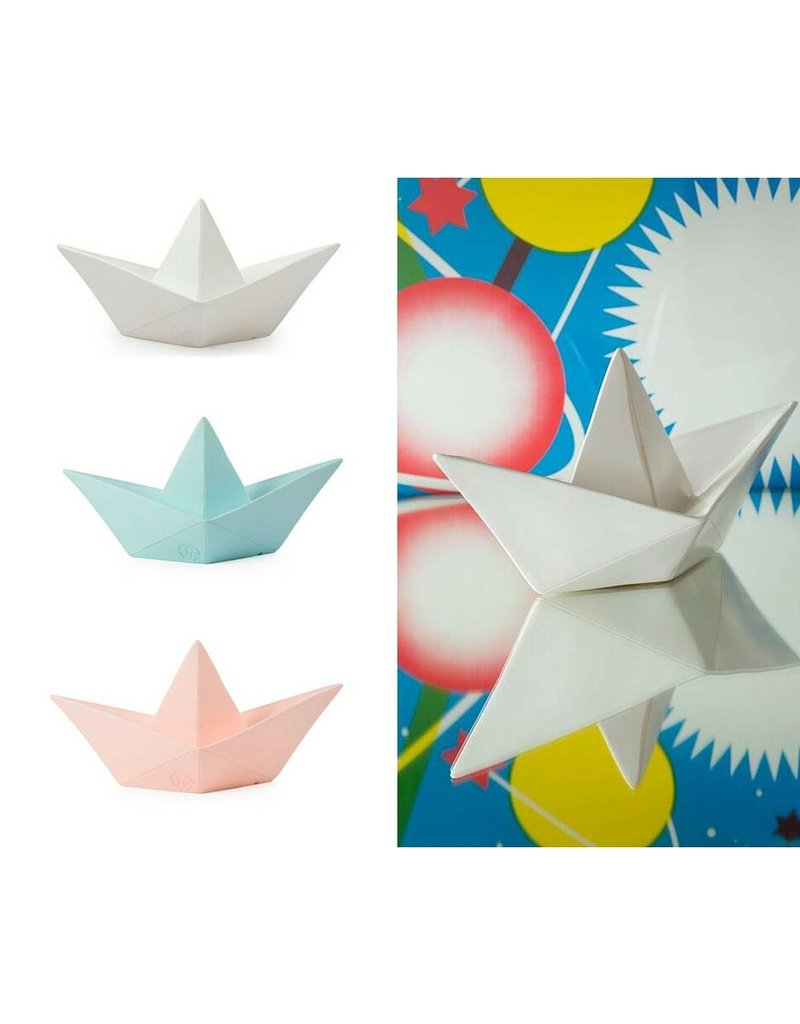 Goodnight Light Paper Boat lamp pink
