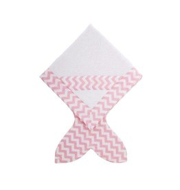 Baby Bites Hooded bath towel pink
