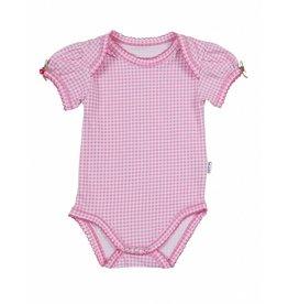 Claesen's Body manches courtes Small Pink Checks