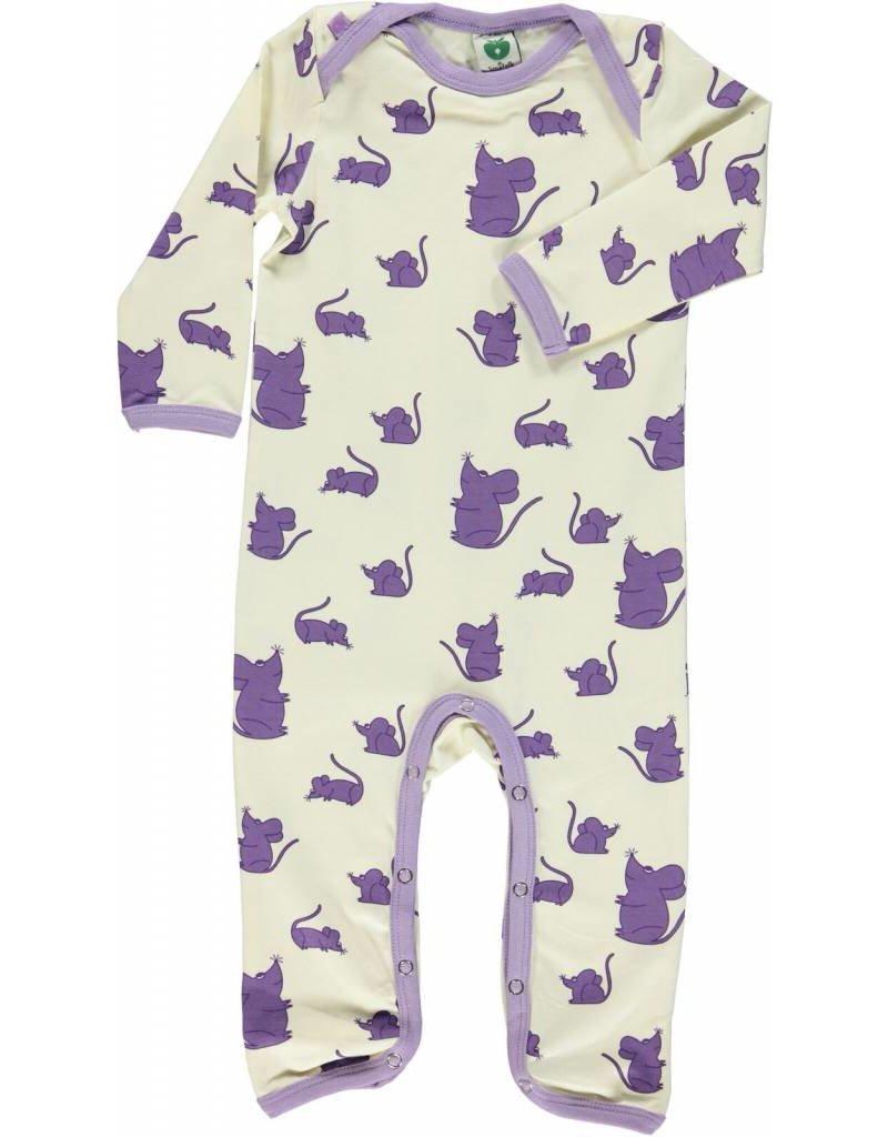 Småfolk Bodysuit Purple Mice