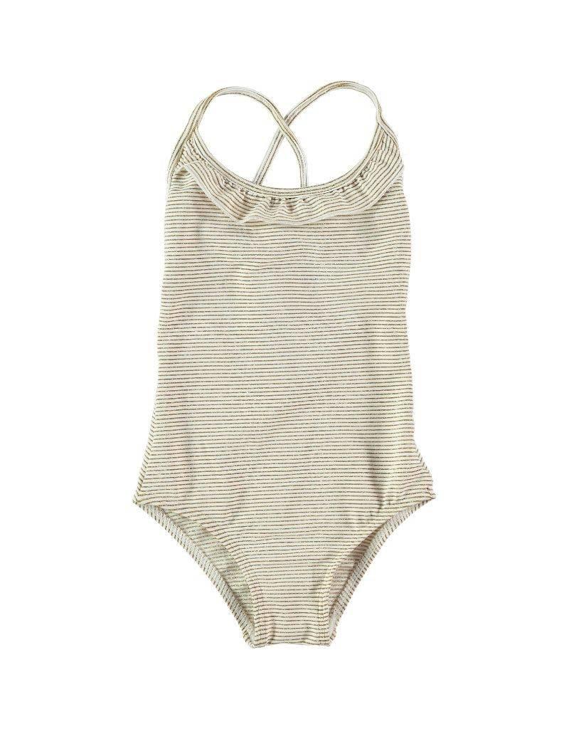 Girls swimsuit cream / gold