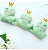voor kindjes Beautiful garland 'Frogs'