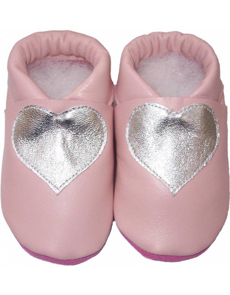 Menu Baby Shoes Cute baby booties in salmon pink