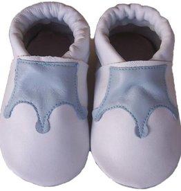 Menu Baby Shoes Babyslofjes wit met lichtblauw kroontje