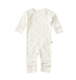 Little Label Baby pajamas in cream and salmon pink