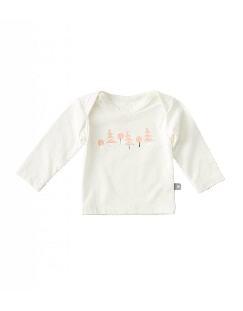 Little Label Shirt bébé en couleur beige / imprimé rose saumon