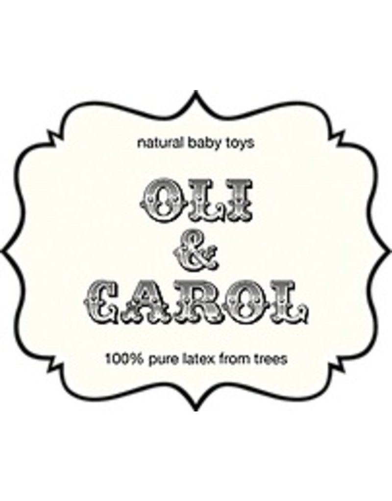 Oli & Carol Retro badeendje in crèmekleur met pastelblauwe stippen Oli & Carol