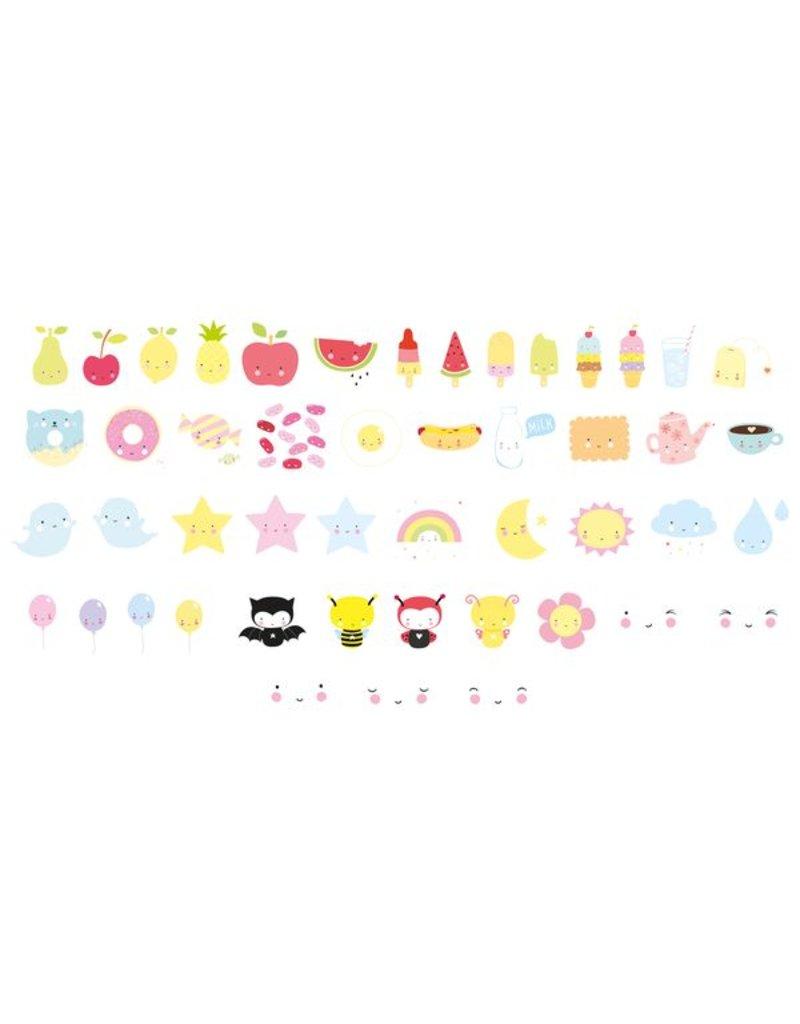 A Little Lovely Company Symboles 'Kawaii' pour la light box