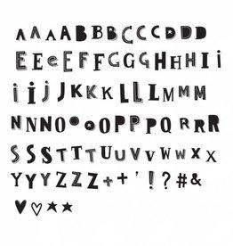 A Little Lovely Company Set lettres 'Funky Black' pour la light box