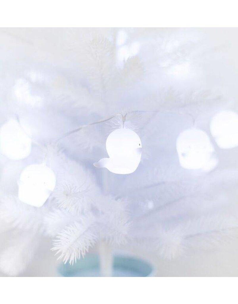 A Little Lovely Company Prachtige lichtslinger met witte spookjes