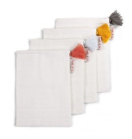 Childwood Tetra face cloths in natural colours