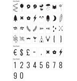 A Little Lovely Company Set Chiffres & Symboles pour la light box