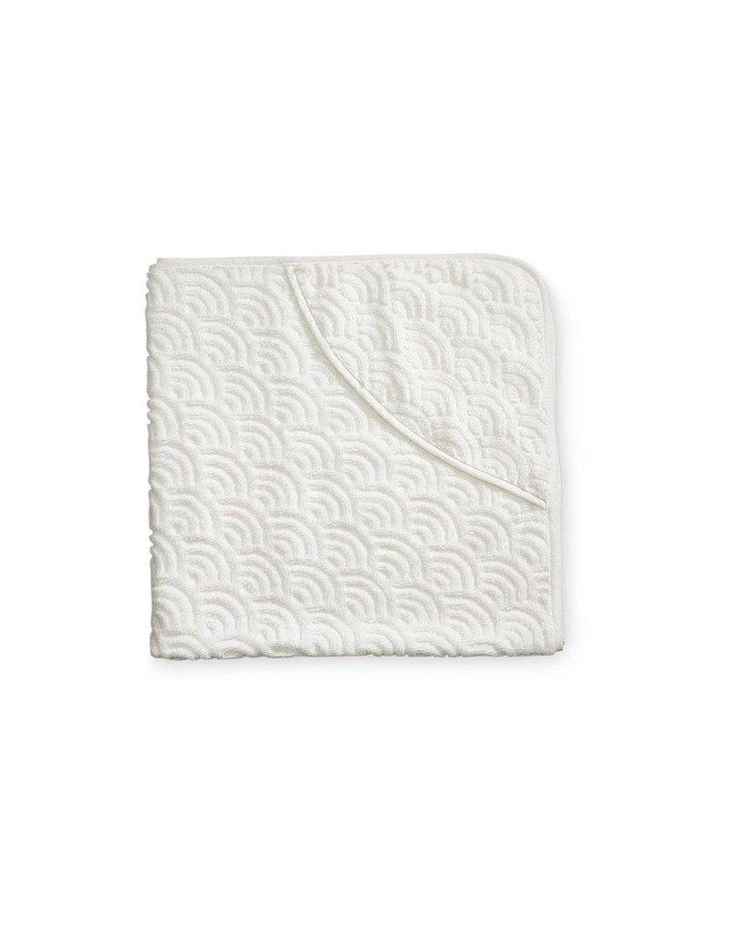 Cam Cam Copenhagen Hooded towel in cream colour
