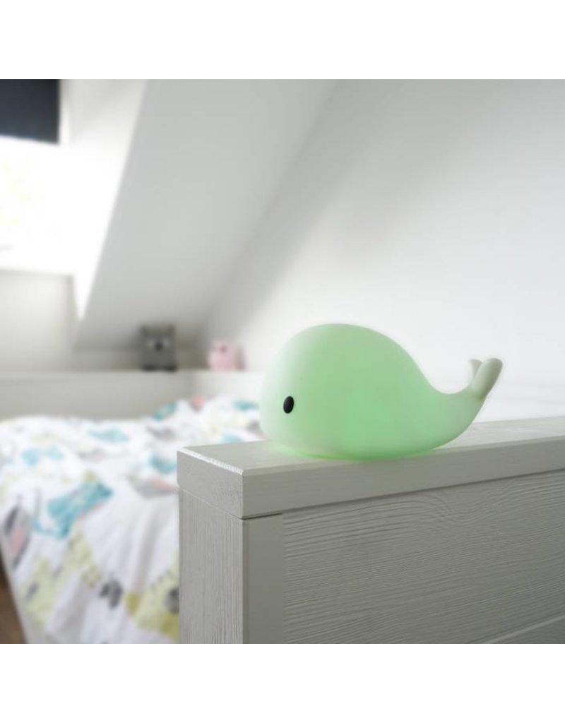 Filibabba Veilleuse Christian en forme d'une baleine