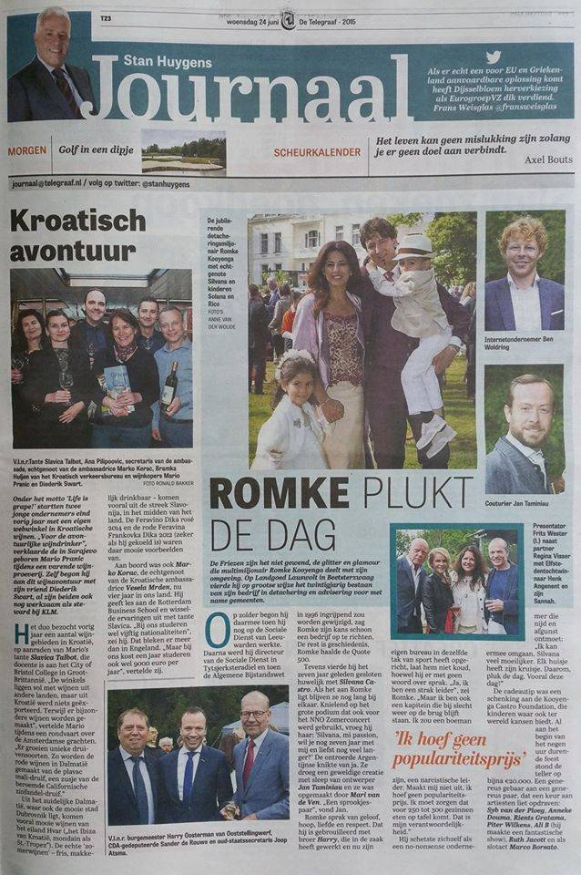 Kroatisch Avontuur in Stan Huygens Journaal van de Telegraaf