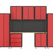 TM Complete garage with workbench and tool cabinets 11 parts