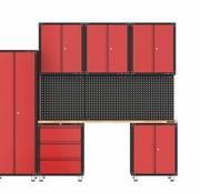 TM Komplette Garage mit Werkbank und Werkzeugschränken 10 Teile