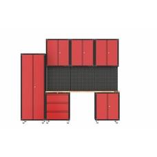 TM Complete garage inrichting met werkbank en gereedschapskasten 10 delig
