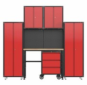 TM Complete garage layout with workbench and toolboxes 6 pcs