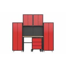 TM Complete garage inrichting met werkbank en gereedschapskasten 6 delig