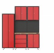 TM Complete garage layout with workbench and toolboxes 8 pcs
