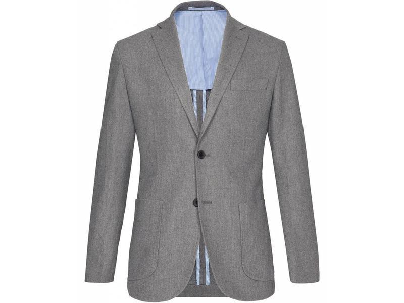 Profuomo Grijs wol-blend blazer