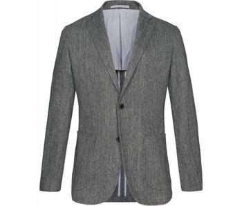 Profuomo Donker grijs wol-blend blazer