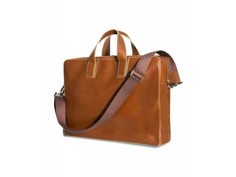 Profuomo Business bag cognac