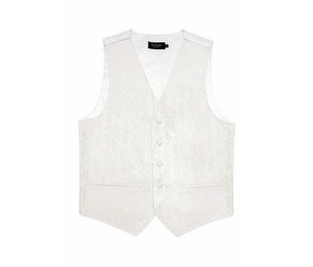 Profuomo Off-white silk wedding waistcoat