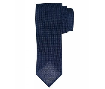 Profuomo Navy open-weave 3-fold zijden das