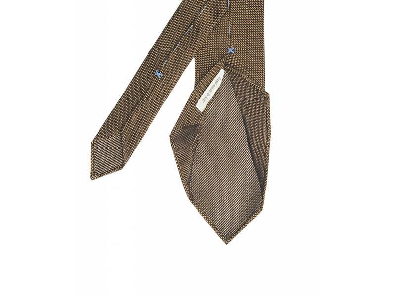 Profuomo Camel open-weave 3-fold zijden das