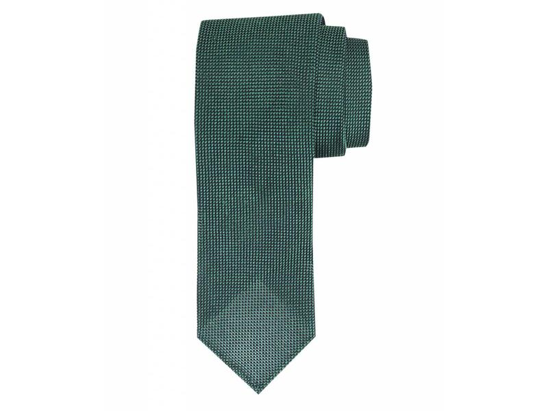 Profuomo Green open-weave 3-fold zijden das