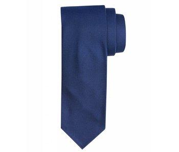 Profuomo Mid-blue imperial oxford 7-fold zijden das