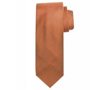 Profuomo Orange imperial oxford 7-fold zijden das