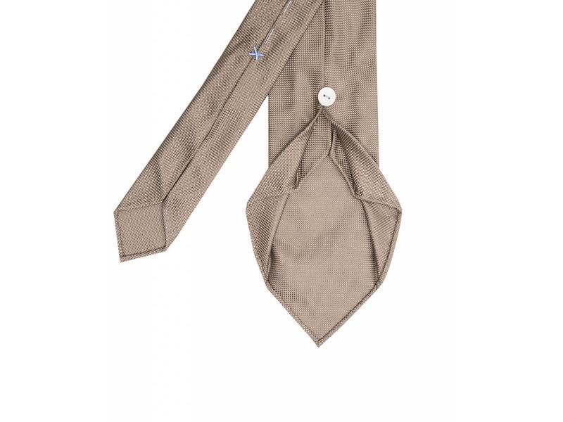 Profuomo Camel imperial oxford 7-fold zijden das