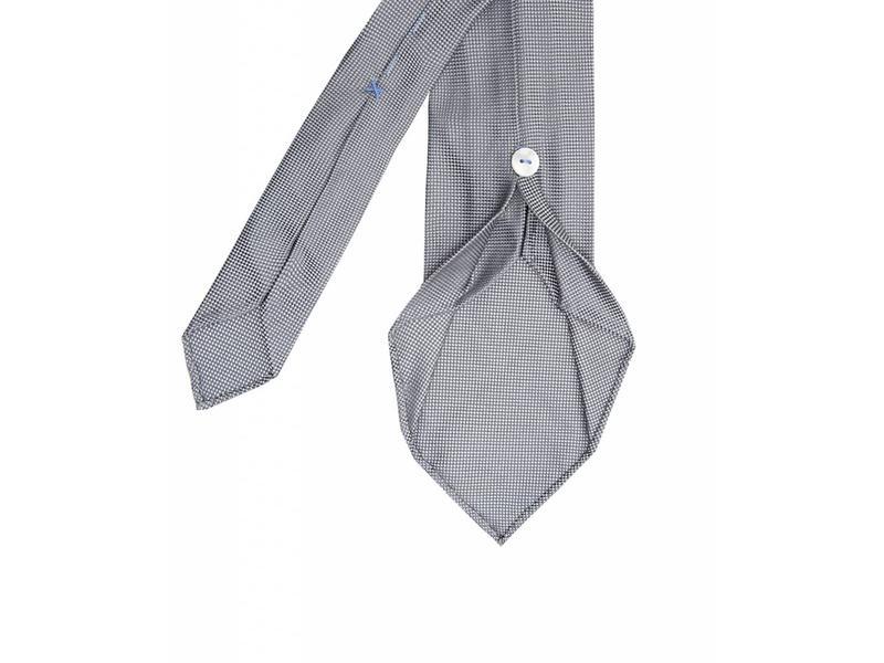 Profuomo Grey imperial oxford 7-fold zijden das