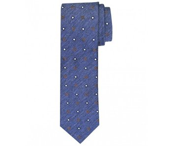 Profuomo Navy woven silk-cotton tie