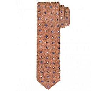 Profuomo Rust woven silk-cotton tie